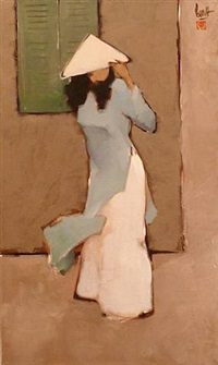 lady in long dress by nguyen thanh binh