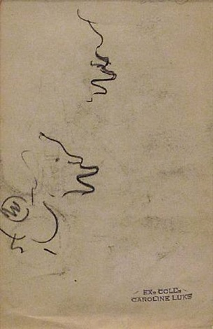 pencil study by george benjamin luks