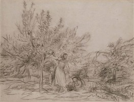la cueillette des fruits by charles françois daubigny