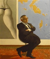 a video show in the war room by julio larraz