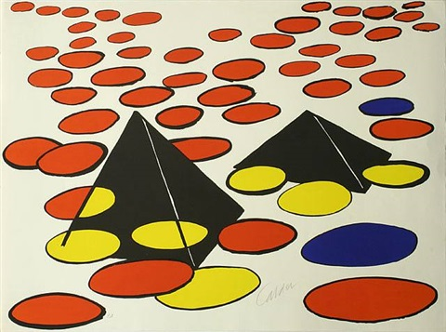 pyramid noire (h) by alexander calder