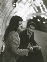 le muguet du métro (marc and christiane chevalier in the paris metro) by robert doisneau