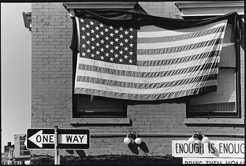 untitled (american flag, enough is enough) by robert rauschenberg