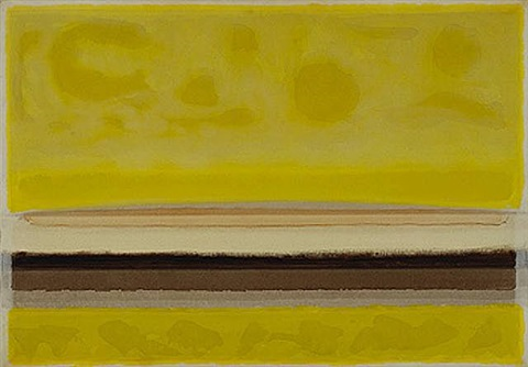 yellow landscape ii by lawrence calcagno