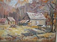 autumn farm by george cherepov