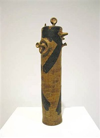 untitled (cylinder) by robert arneson