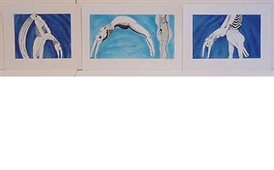 triptych for the red room by louise bourgeois