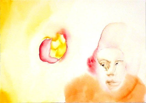 scorticato (5/ 14 portraits) by francesco clemente