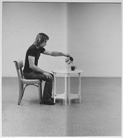pouring coffee by william wegman