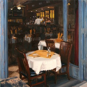 open air cafe (sold) by vincent giarrano