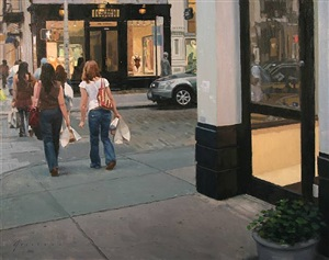 shopping in soho (sold) by vincent giarrano