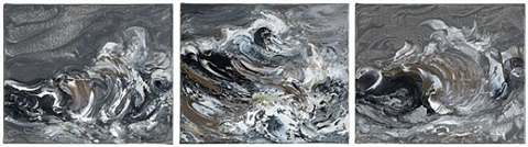 storm wave triptych by maggi hambling