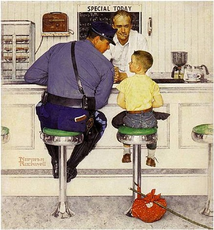 the runaway by norman rockwell