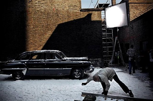 on the set of « tian tang kou », shanghai, china, 2006 by stefano de luigi