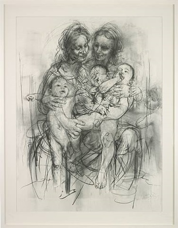reproduction drawing iv (after the leonardo cartoon) by jenny saville
