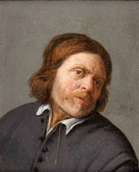 portrait of a man by adriaen jansz van ostade
