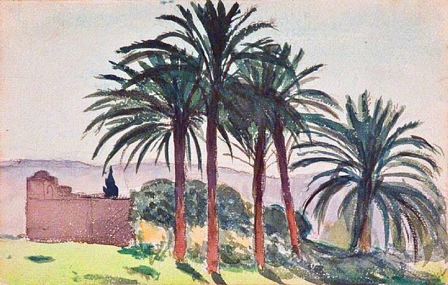 les palmiers, algérie by albert marquet