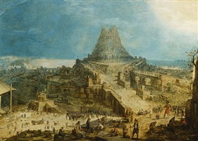 the tower of babel by hendrick van cleve iii