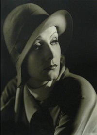 greta garbo-bowler hat by clarence sinclair bull