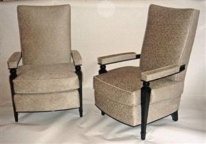 paire de fauteuils / a pair of high armchairs by dominique