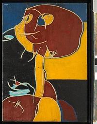 personnage marron et ocre by pierre (baron) courtens