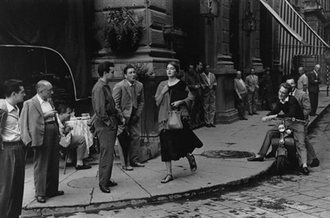 an american girl in florence, italy by ruth orkin