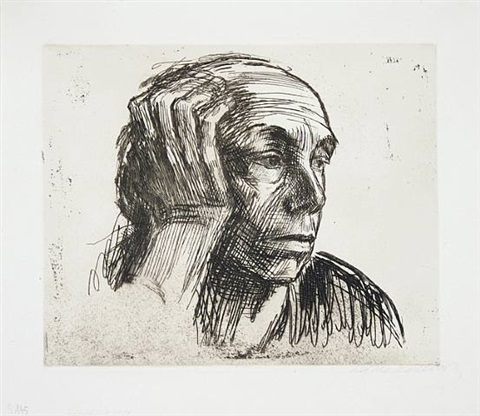 self-portrait by käthe kollwitz