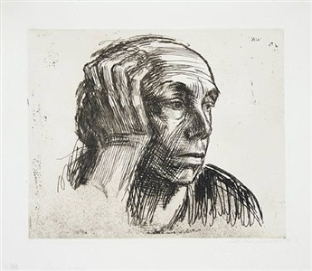 käthe kollwitz a portrait of the artist by käthe kollwitz