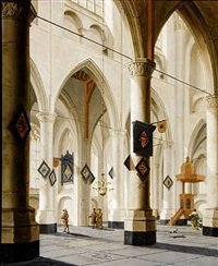 interior of the pieterskerk in middelburg by daniel de blieck