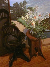 daffodils with corot's