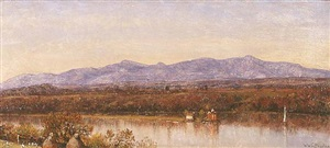 view of the catskills by worthington whittredge