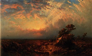 pioneers at sunset by william h. weisman