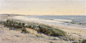 the beach, morning by william trost richards