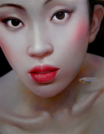 china girl from the beijing girl series by zhang xiangming