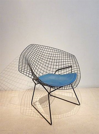 fauteuil diamant by harry bertoia. Black Bedroom Furniture Sets. Home Design Ideas