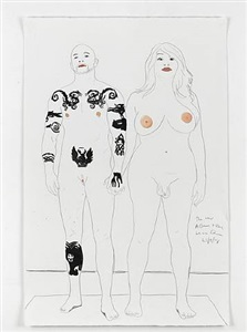 buck & allanah by marc quinn