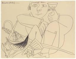 adolescent au casque et à l'épée by pablo picasso
