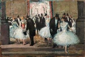 le foyer de l'opera by jean louis marcel cosson