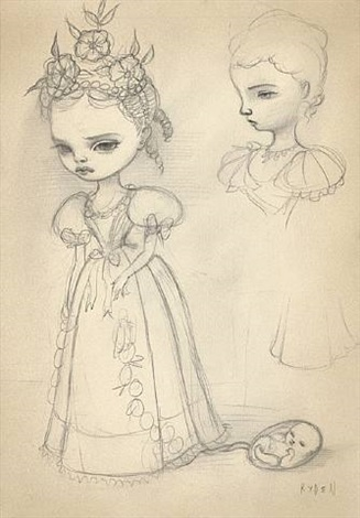 catherine sketch #1 by mark ryden