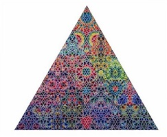 kaleidoscope triangle by philip taaffe