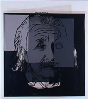 ten portraits of jews of the 20th century: albert einstein by andy warhol