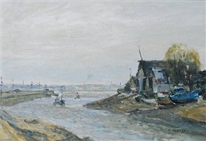 fishing boat on seine by gaston sébire