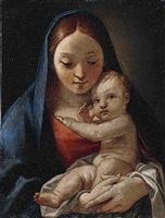 the virgin and child by giulio carpioni