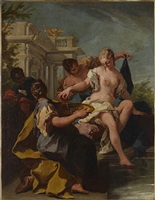 david and bathsheba by giovanni battista pittoni the younger