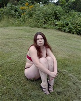 untitled (chrissy on grass) by jocelyn lee