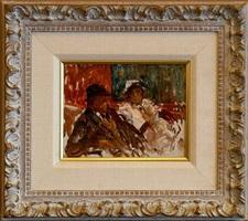 dans un loge a montmartre, paris ~ 1915 by elie anatole pavil