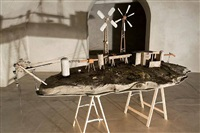 installation view: mock-up for the ruhr-atoll project at baldeneysee, essen by ilya & emilia kabakov