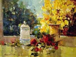 window still life by ted goerschner