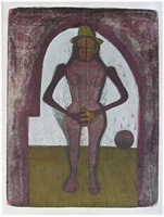 femme au collant rose from the mujeres suite by rufino tamayo