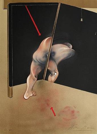 nach study for the human body, 1981 (studie für den menschlichen körper, 1981) by francis bacon